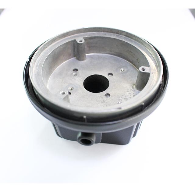 die cast aluminium cover with black powder coating