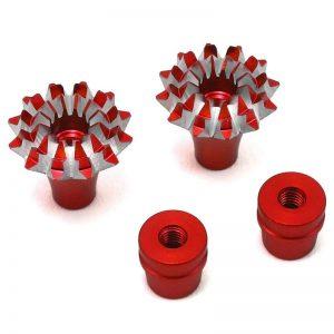 FrSky CNC Alu M3 Gimbal Stick End Lotus grande Red