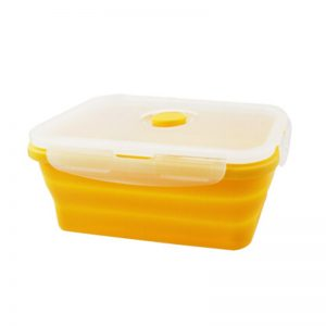 Rubber lunch box foldable lunch box soft plastic food